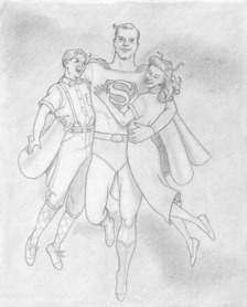 Jimmy, Superman, and Lois - click to ZOOM!