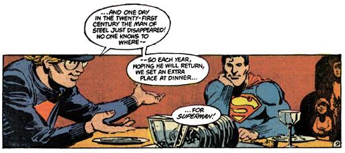 Miracle Monday dinner from Superman #400, Elliot S! Maggin & Klaus Janson